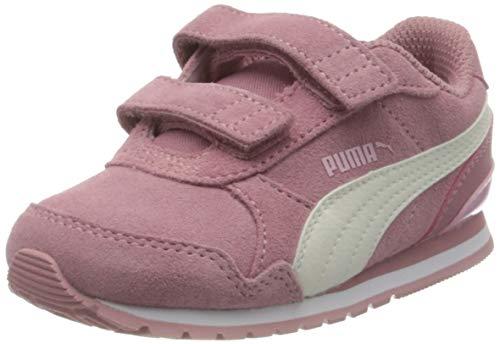 Puma Unisex Baby St Runner V2 Sd V Inf Sneaker, Foxglove-Whisper White-Pale Pink White, 19 EU