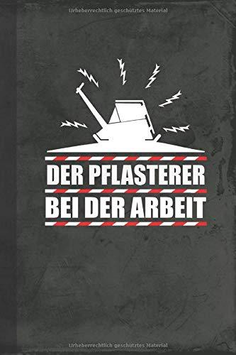 Pflasterer bei der Arbeit: Notizbuch A5 Kariert (Bauwirtschaft Schreibwaren) (German Edition)