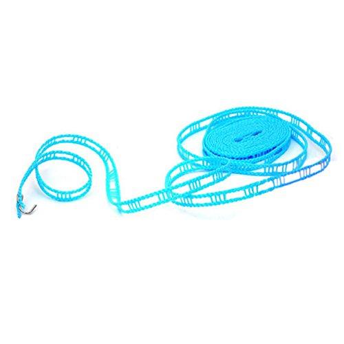ZooooM 物干し ロープ 洗濯 物 乾燥 便利 家事 省スペース 持ち歩き コンパクト 軽量 フック アウトドア レジャー 紐 ものほし 竿 引っ掛け ハンガー 風 落下 防止 一人暮らし 手軽 (サイズ:約5m)(カラー:ランダム) ZM-HIMOR