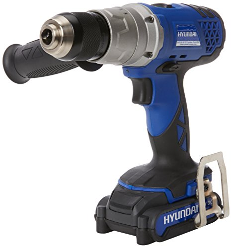 Hyundai Cordless 18 V Lithium Ion Battery Drill Driver HY2155 With 2x Batteries, Charger and Carry Case