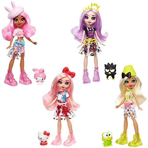 Mattel Sanrio Hello Kitty Figure & Éclair Doll (~10-in / 25.4-cm) Wearing Fashions and Accessories, Long Pink Hair and Trendy Outfit, Great Gift for Kids Ages 3Y+