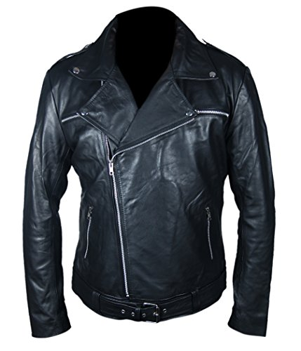 Negan The Walking Dead Leather Jacket- Perfect Halloween Costume- XL