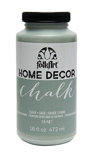 FolkArt 25649 Home Decor Chalk Furniture & Craft Paint in Assorted Colors, 16 ounce, Sage