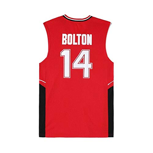 Auart Mens # 14 Wildcats Troy Bolton Film High School Musical Version Arizona Vintage-Universität Unisex Jugend Ärmel Gym Sport Weste (Color : Red, Size : M)