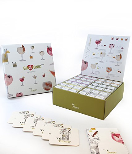Té Tonic Experience – Gin Lover Luxury Gift Box 72 infusiones y 6 aromas variados para Gin & Tonic