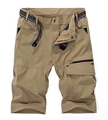 MAGCOMSEN Work Shorts for Men Construction Mens Shorts Casual Shorts Golf Shorts for Men Hiking Shorts Mens Quick Dry Shorts Cargo Shorts for Men with Pockets Khaki