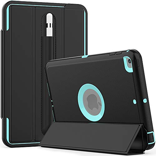 LUVI for iPad Mini 5 Case with Pencil Holder Case with Kickstand Stand Case Trifold Stand Smart Cover with Smart Auto Sleep/Wake Case Protective Case for iPad Mini 5 (2019) 7.9inch Teal