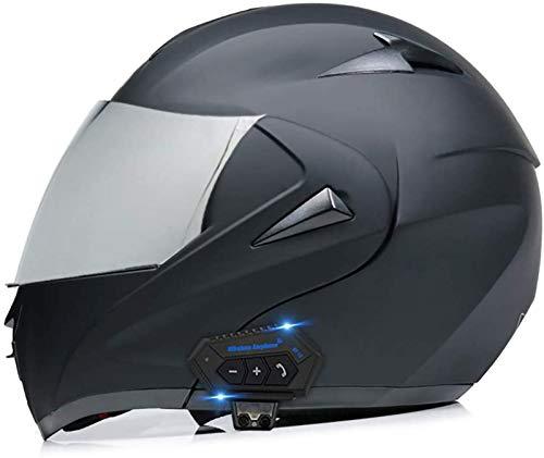 Cascos abatibles con Bluetooth para motocicleta Cascos abatible Cascos integrales Casco de motocicleta Casco para scooter Scooter Doble visera para mujeres Hombres Adultos Certificación ECE B,M