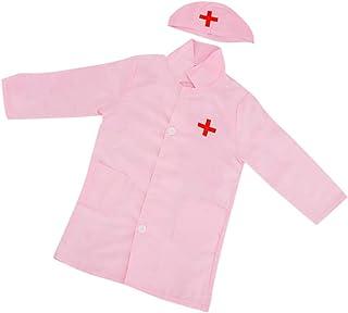 Baosity Kids Lab Coat Children Cotton Uniforms Scientist Doctor/Nurse Role Play Costume Dress-up