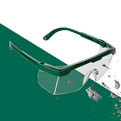 POEO Gafas de Seguridad con Función Antivaho, Antisalpicaduras, Longitud de la Sien Ajustable, Cordón en el Extremo, Material de PC, Adecuado para Agricultura, Industria