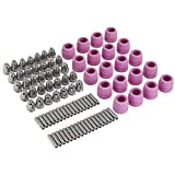 90 unids/set Kit de electrodo de boquilla cortador de plasma soplete de corte consumibles electrodo cobre galvanizado cerámica