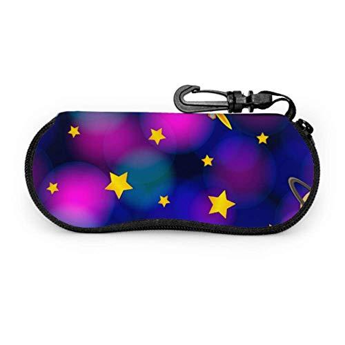 Mysterious Planet Universe Moon Galaxy Funda para gafas de sol para niños Funda decorativa para gafas Funda de neopreno con cremallera para gafas