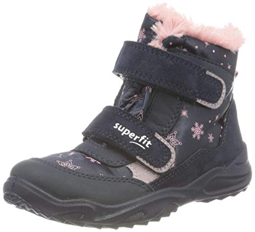 Superfit Dziecięce buty zimowe dla dziewczynek Glacier, niebieski - Blau Rosa 8000-23 EU