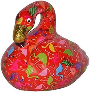 Pomme Pidou Skarbonka Flamingo Lilly | oryginalna skarbonka ceramiczna z flamingiem | czerwona z pudełkiem na prezent | st...