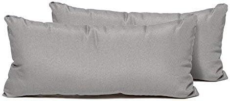 TK Classics PILLOW-GREY-R-2x Rectangle Outdoor Throw Pillows - Best Performance