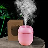 Generies Brands USB-Powered Mini Humidifiers for Bedroom Baby Home Office Car with LED,Air Humidifier for Facial moisturizer (Pink)