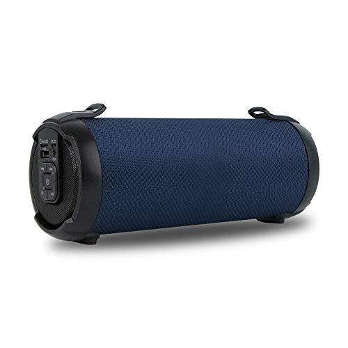 NGS ROLLER TEMPO MINI BLUE Tragbarer Bluetooth-Lautsprecher 15W mit USB/Audio Auxiliar/MicroSD-Eingängen und Wiederaufladbarem Akku