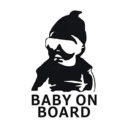 MCTYLI 9 * 14,8 cm BABY OP BOARD Auto Stickers en Stickers voor Auto Producten Venster Vinyl Waarschuwingsbord Sticker op de Auto Accessoires