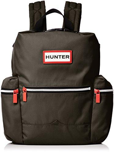 HUNTER Original Mini-Rucksack aus Nylon mit Klippverschluss in der Farbe Dunkelgrün One Size