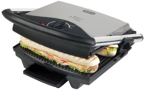 Domo DO9037G Sandwich-Maker mit großer Grillplatte, Kontakt-Tischgrill mit 2000 Watt Leistung für eine schnelle Zubereitung für Panini, Toast, Fleisch, Fisch
