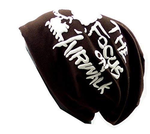 Trendit Plastique Bonnet Long Tête de Mort Skull Urban Bonnet d'hiver Killer Chill Wear Summer Black Head HX3 - Marron -