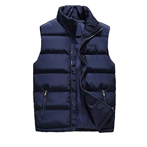 CHIYEEE Heren Winter Gilet Warm Mouwloos Jas Down Katoen Jas Vest Top M-6XL