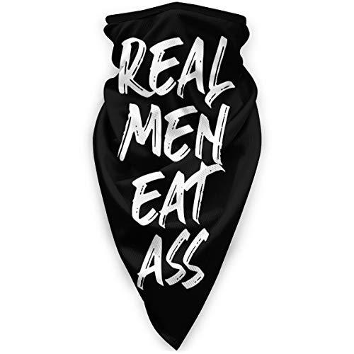 Antokos Real Men Eat Ass Seamless Face Cover Bandanas Headwear Diadema Cuello Polaina Multifuncional Magia Bufanda Balacla Para Deporte Al Aire Libre Polvo
