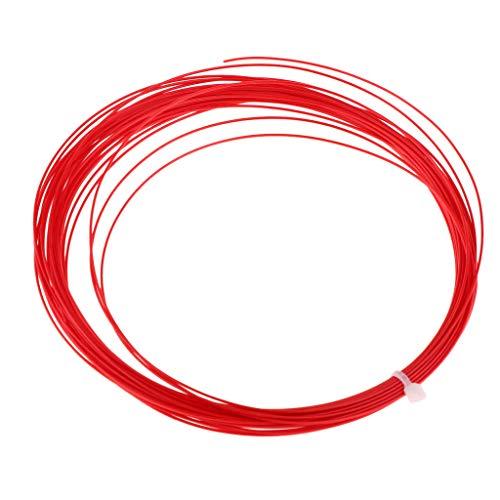 Toygogo - Raqueta de bádminton con Cuerda elástica (10 m, Nailon), Rojo
