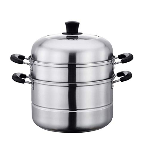 ECSWP ZHGUOCFYJ Nivel 3 Acero Inoxidable Diámetro Vapor Utensilios de Cocina Pot Saucepot Multi-Capa de Caldera