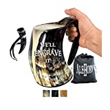 AleHorn Viking Drinking Horn XL Tankard Handcrafted Beer Cup for Ale, Mead - Food Safe - Medieval Style Mug Inspired by Game of Thrones