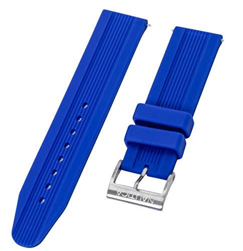 Nautica Herren N14624G A14624G NSR 11 Blau Silikon 22 mm Original Ersatz-Uhrenarmband