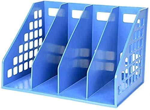 DDLONY Carpetas de Archivos Organizador Soporte de Archivos de Escritorio Archivadores Verticales Revistero Estilo Minimalista Moderno Llenado de Archivos Caja de almacenam