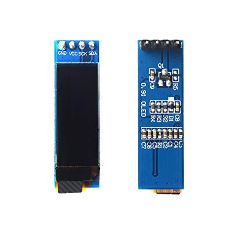 2Pcs 0.91 inch OLED I2C Display Module 128x32 Blue IIC LCD LED Display Module SSD1306 3.3V~5V for Arduino