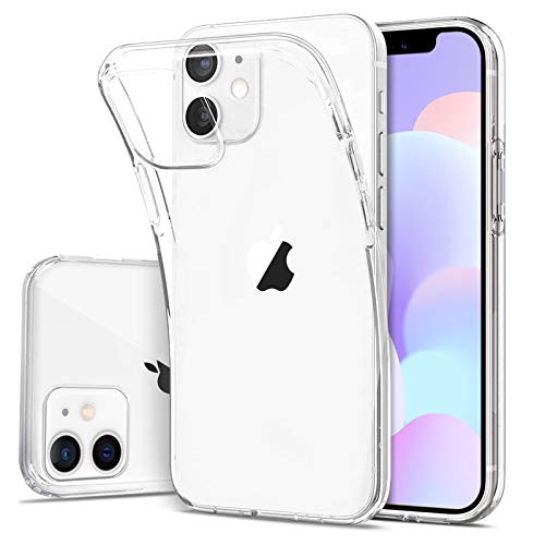 DOSMUNG Handyhülle kompatibel mit iPhone 12 & iPhone 12 Pro Hülle, [Stoßfeste] [Anti-Kratzt] Ultra Dünn Klar Silikon Gel TPU Hülle für iPhone 12 & 12 Pro (6,1 Zoll)