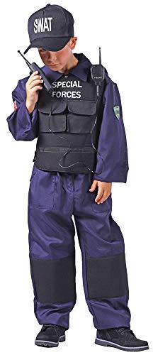 Het kostuumland SWAT Special Forces kostuum voor kinderen – politie geheim politie bekleding carnaval themafeest spelen