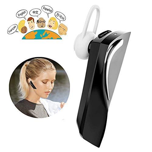 LKJCZ Inteligente 28 Idioma instantáneo portátil traductor Auricular Voz Dispositivo inalámbrico Bluetooth Auriculares de Negocios, Negro