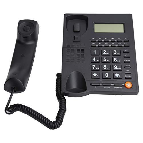 Vbestlife Teléfono Fijo, teléfono con Cable de Escritorio con botón Grande para el hogar/Oficina/Hotel, para Personas Mayores