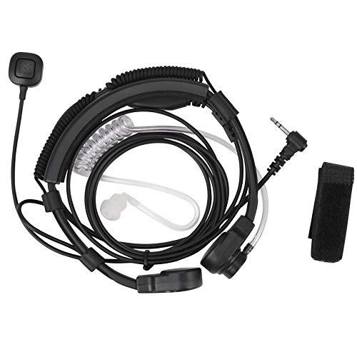 Senmubery 2.5mm Auricular de microfono de Garganta Auriculares Microfono PTT para Walkie Talkie Radio TLKR T5 T80 T60 T6 T8 Talkabout MR350R T6500