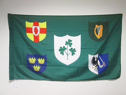 AZ FLAG Flagge Irish Rugby 150x90cm - Republik Irland Fahne 90 x 150 cm Scheide für Mast - flaggen Top Qualität