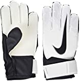 NIKE Junior Match Goalkeeper Guantes de Portero, Unisex niños, Blanco (White/Black), 4