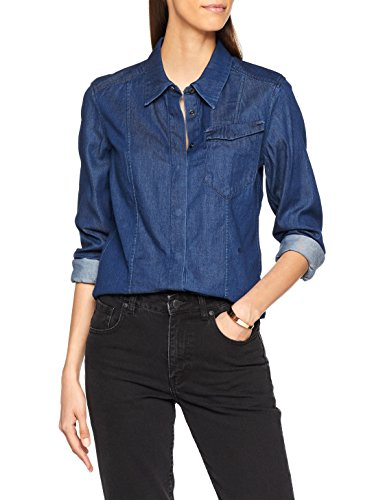 G-STAR RAW Damen Tacoma Classic Shirt Wmn L/s Hemd, Blau (Rinsed), X-Small