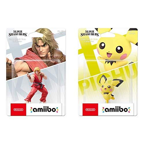 Nintendo - Amiibo Ken, Colección Super Smash Bros + Super Smash Bros Amiibo - Pichu