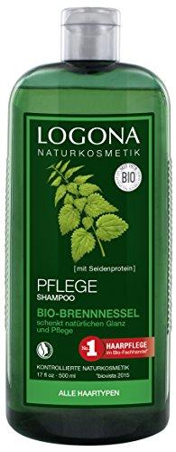 Logona - 1003shabri5 - Salute e bellezza dei capelli - Shampoo brillare con Ortica - 500 ml