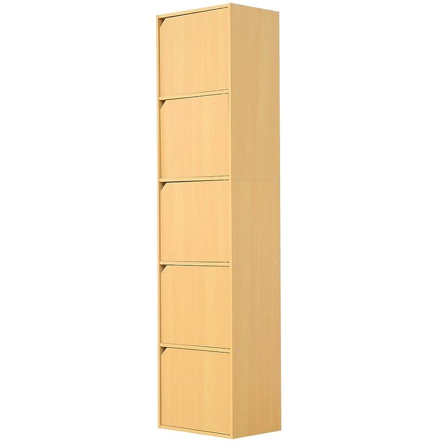 そのような領収書水銀のA4サイズ収納OK!扉付きカラーボックス【-5ivox-フィボックス】ナチュラル