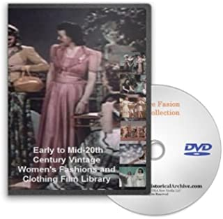Early to Mid-20th Century Vintage Women's Fashions and Clothing DVD - Fashion Models and Shows, Wedding Dresses, Lingerie, Glamour Modeling and More