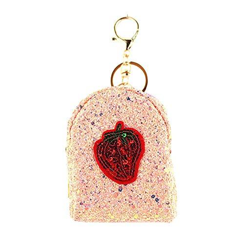 Meigold Mini-Geldbörse für Damen, Erdbeer-Design, klein, süßes Aufbewahrungstasche für...