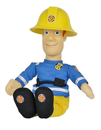 Simba 109258288 - Feuerwehrmann Sam sprechende Plüschfigur 30 cm