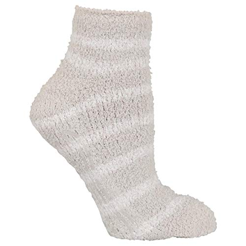 Dr. Scholl's Men's 2 Pack Soothing Spa Low Cut Lavender + Vitamin E Socks with Silicone Treads, Gray Assorted, Shoe Size: 4-10