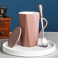 WZHLI カラフルなセラミックス、かわいいハイエンドのオフィスミルクコーヒーカップ (Color : D)