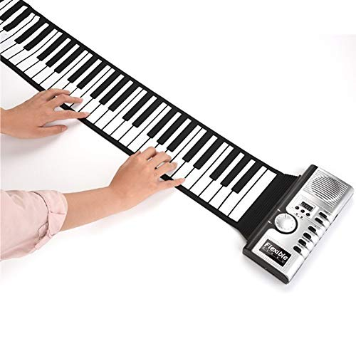 Find Discount ROCK1ON 61 Keys Roll Up Piano Portable Rechargeable Electronic USB MIDI Out Hand Roll ...
